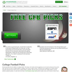 College Football Picks - Wunderdog