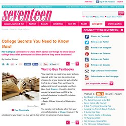 Advice for College Freshmen - Things To Know About College Secrets
