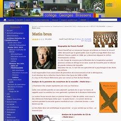 Matin brun - Collège Georges Brassens - PERSAN