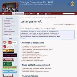 Les angles en 6e. - Collège Germaine TILLION