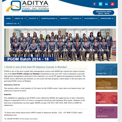 Post Graduate Diploma Courses, Best PGDM College in Mumbai
