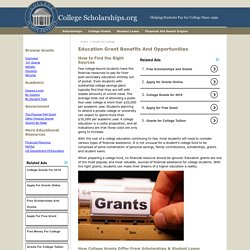 Free College Grants to Pay for Your Higher Education