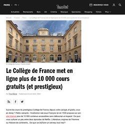 Le Collège de France met en ligne plus de 10 000 cours gratuits (et prestigieux)