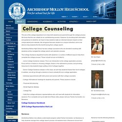 College Guidance & Counseling -Archbishop Molloy High School