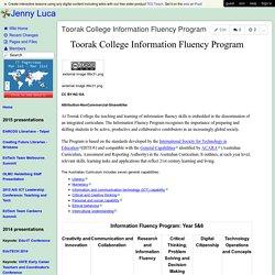 Jenny Luca - Toorak College Information Fluency Program