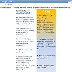 Collège - Institution Chris-Roi Notre Dame des Ailes