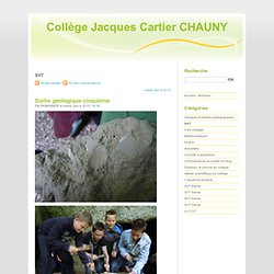 SVT - Collège Jacques Cartier CHAUNY