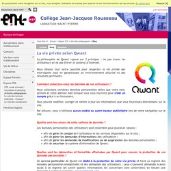 Collège Jean-Jacques Rousseau - La vie privée selon Qwant