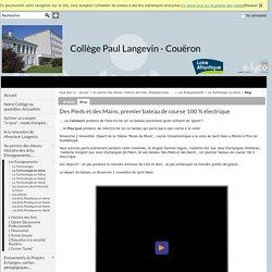 Collège Paul Langevin - Couëron - Des Pieds et des Mains, premier bateau de course 100 % électrique