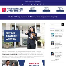Best BCA College in Lucknow, UP Makes Your Career Prosperous