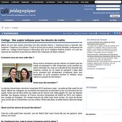 Collège : Des sujets ludiques pour les devoirs de maths