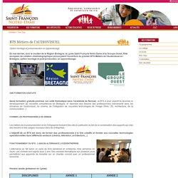 BTS Métiers de l'AUDIOVISUEL - Saint-François Notre-Dame - Ens. Sup.