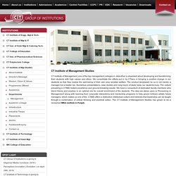 MBA College in Punjab, Top Management College in Jalandhar