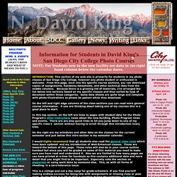 San Diego City College Materials for Students