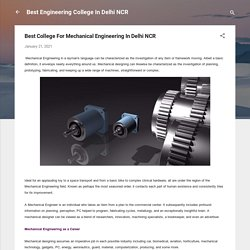 Best College For Mechanical Engineering In Delhi NCR