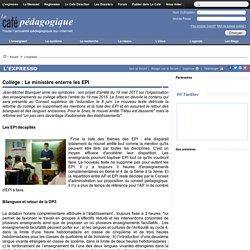 Collège : Le ministère enterre les EPI