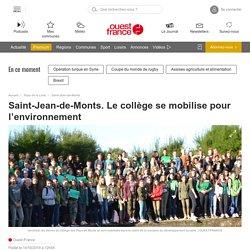 Saint-Jean-de-Monts. Le collège se mobilise pour l'environnement