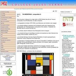 Collège Jules Verne - Provins - Piet MONDRIAN : composition A