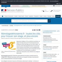 Collège -Monstagedetroisieme.fr: toutes les clés pour trouver son stage, et plus encore