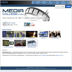 Media College - Video, Audio and Multimedia Resources
