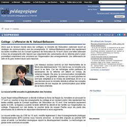 Collège : L'offensive de N. Vallaud-Belkacem
