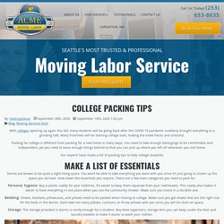 College Packing Tips