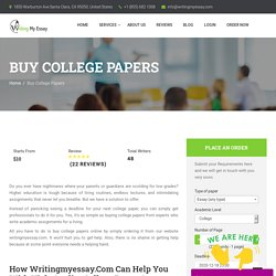 Buy College Papers Online - High Quality College Papers