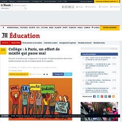 Collège: à Paris, un effort de mixité qui passe mal