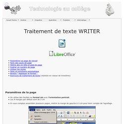 Techno au collège Picasso - 3eme - Traitement de texte