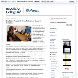 RioNews: Predictive Research Aims To Improve Student Success