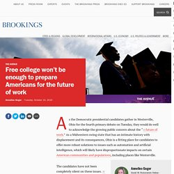 Free college won't be enough to prepare Americans for the future of work