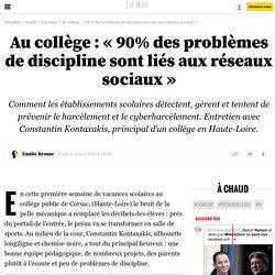 Au collège: «90% des problèmes de discipline sont liés aux réseaux sociaux» - 14 avril 2016