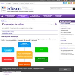 Eduscol - Le collège 2016 : questions/réponses