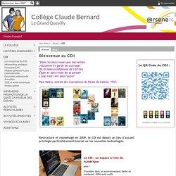 Collège Claude Bernard - Le Grand Quevilly - Bienvenue au CDI