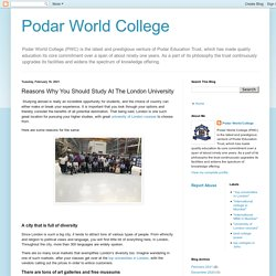 Reasons Why You Should Study At The London University