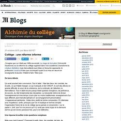 Collège : une réforme informe
