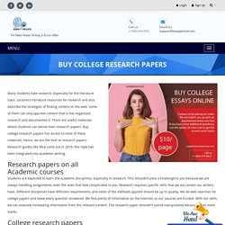 Buy College Research Paper at affordable Price