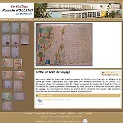Collège Romain-ROLLAND Pontivy - Ecrire un récit de voyage