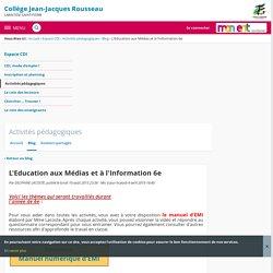 Collège Jean-Jacques Rousseau - Le programme de l'EMI 6eme