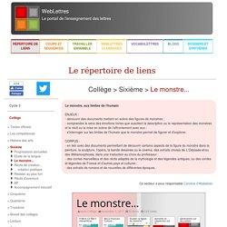 """Le répertoire de liens <span class=""""surligne"""">de</span> WebLettres : Collège > Sixième > Contes et récits merveilleux"""
