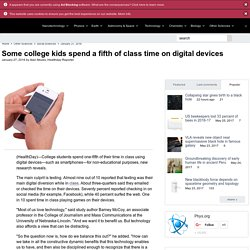 Some college kids spend a fifth of class time on digital devices