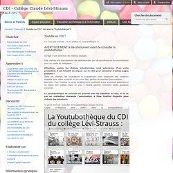 """Youtube au CDI ? Oui avec la """"Youtubothèque"""" !!"""