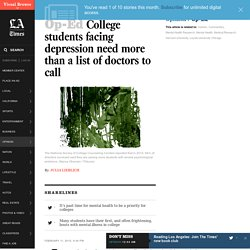 College students facing depression need more than a list of doctors to call