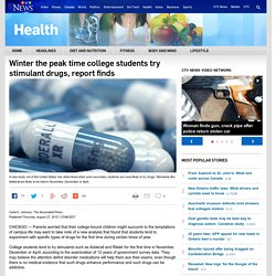 Winter the peak time college students try stimulant drugs, report finds