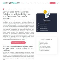 Buy College Term Paper and Become a Successful Student