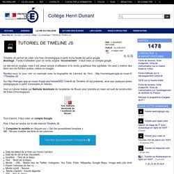 Collège Henri Dunant - Tutoriel de Timeline JS