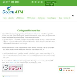 Buy ATM Machine for Education Institutions