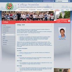 Collège - UPI - Collège Stanislas