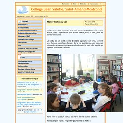 Collège Jean Valette - Atelier Haïkus au CDI