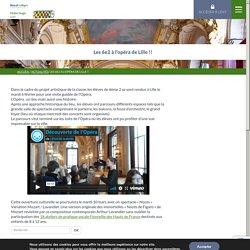 College Victor Hugo AUBY » Les 6e2 à l'opéra de Lille !!